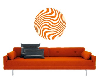 Floating Circular Ball vinyl Wall DECAL- sticker art, room, home and business decor