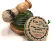Men's Shaving Set - Shaving Kit - Boar Bristle Brush - Choose your scent - Gift Wrapped TOO