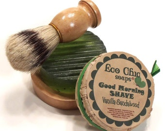 Father's Day Men's Shaving Set - Shaving Kit - Boar Bristle Brush - Choose your scent - Gift Wrapped TOO