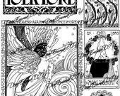 Art Nouveau, art deco, instant download, printable graphic clipart