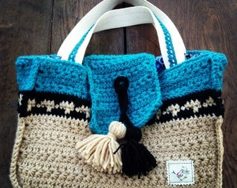 Crochet Bag pattern, crochet bag PDF pattern