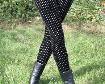 Ladies Limited Edition - Glitter Dot Velvet Leggings - pick your size