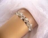 Prom Garter / Wedding Garter /  Black Garter / Rhinestone Garter / Crystal Garter / Toss Garter / Garter Belt / Garder