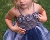 Crochet Tutu Dress Pattern: 'Robin Dress', Crochet Flower Girl, Princess Tutu, Toddler Crochet