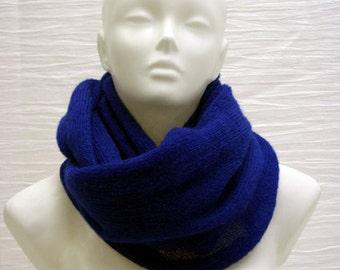 electric cobalt Blue Mohair Cowl - Fluffy, Soft & Warm