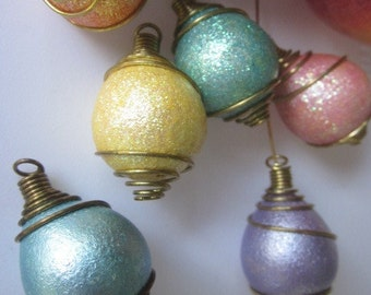 """Vintage Italian Lucite Beads In """"Cages""""  Colors In Several Delicious Colors"""