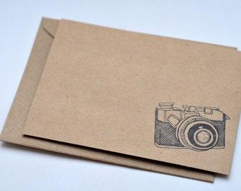 Vintage Camera Cards, Set of 4, Blank Cards
