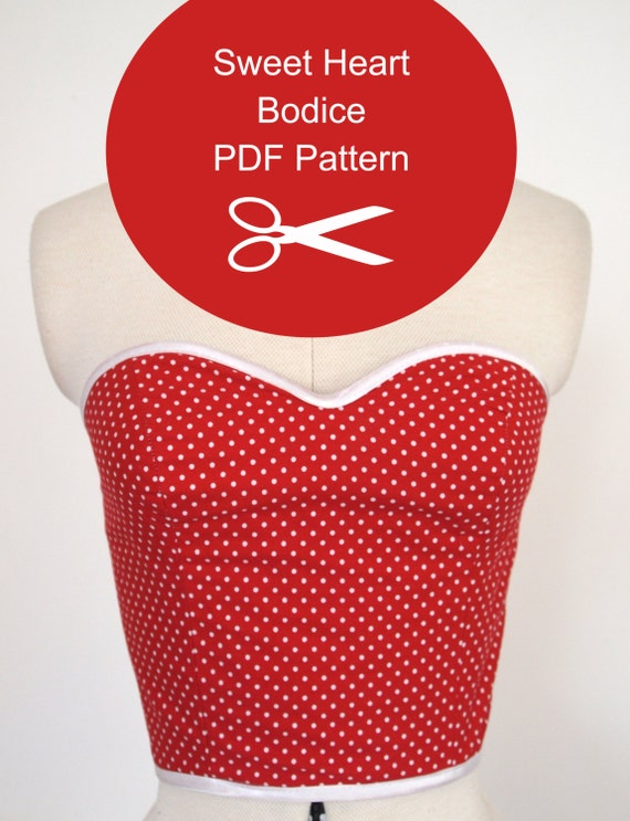 Strapless Top Sewing Pattern Instant PDF Download Multi