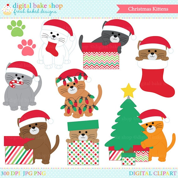 christmas clipart clip art kittens cats Christmas Kittens