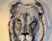 CUSTOM ORDER. Hand drawn T-shirt. Animal of your choice