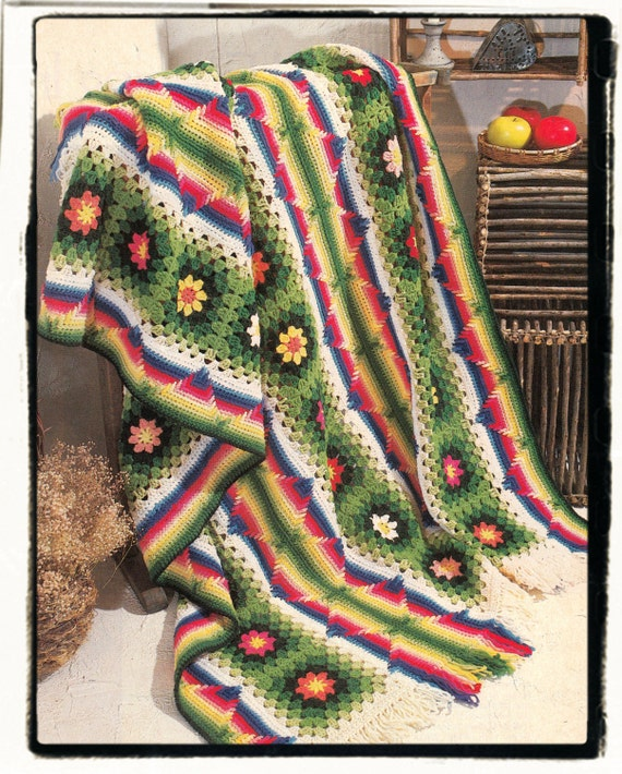Instant Download PDF Crochet Pattern To Make A Multi Coloured