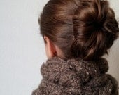 Knit Chunky Braided / Cabled Cowl - Snood - THE ARROWHEAD - More colors available