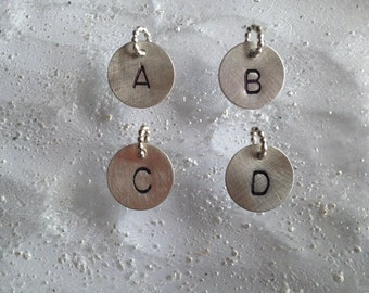 sterling initial pendants