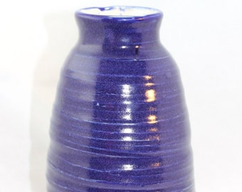 Blurred Blue Lines Ceramic Vase Pottery Vase