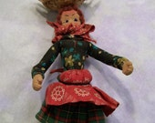 Lady and Chicken Doll  Vintage Souvenir  Fabric Doll South American