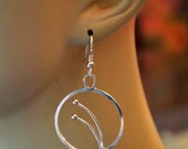 "Sterling silver artisan dangle earrings.  ""Sprouts"""