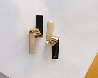 Antonini  art deco clip earrings made in italy