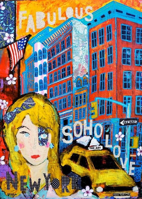 Soho Girl Soho Art Soho New York Art Soho Home By