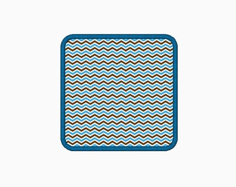 Rounded corner square machine embroider applique design.  Comes in multiple sizes.  INSTANT DOWNLOAD
