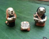 Pueblo Pottery Nativity Set