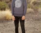 men's MOON sweatshirt SUPER soft raglan alternative apparel