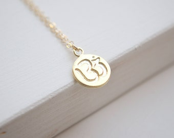 OM Necklace | Gold OR Silver Necklace | Namaste Yoga Jewelry
