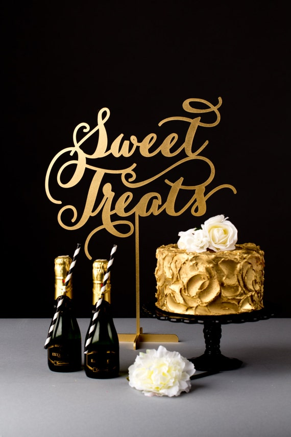 Sweet Treats Party Sign for Dessert Table Blush Pink Gold |Sweet Treats Party Table