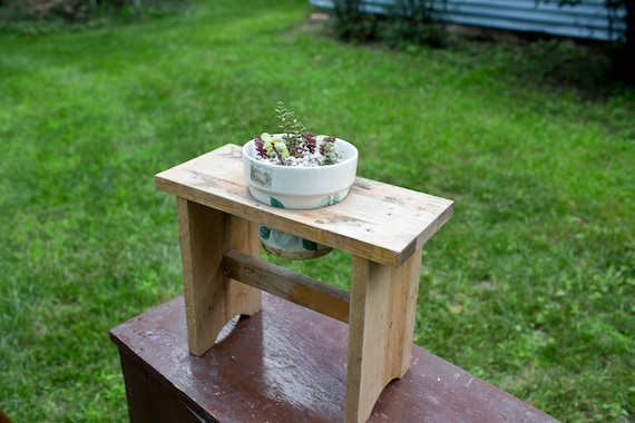 Handmade Planter Holder Plant Pot Reclaimed Wood By