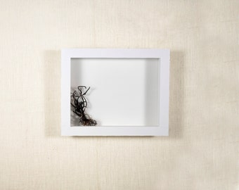 Shadow Box Frame 8x10 - EXTRA Deep Shadow Box, 4 Inches or 5 Inches Deep - White