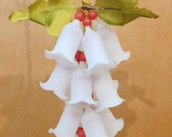 Vintage Ornament Christmas Bells and Berries Cluster FREE SHIPPIING - order 3 or more Christmas  listings
