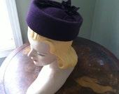 Kate Middleton Hat Pillbox Wool Felt