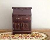 Vintage Jewelry Box Secretary Desk Style Jewelry Chest Storage