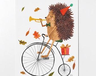18 x 24 Hedgehog Poster