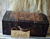 Wedding-card holder-trunk-suitcase-wood-country wedding-card sign-card box-basket-rustic wedding-rustic-bride -groom-vintage inspired-trunk