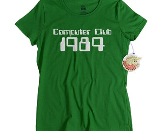 80's computer geek tshirt Computer Club shirt for women 1980s retro tee for moms daughters who loved the 80s geekery t shirt mom gift