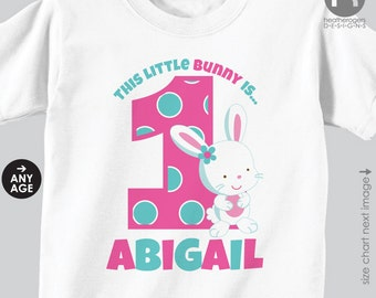 Bunny Birthday Shirt or Bodysuit - Personalized Bunny Birthday Shirt