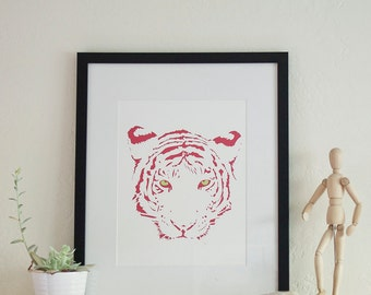 Neon Pink Tiger Print