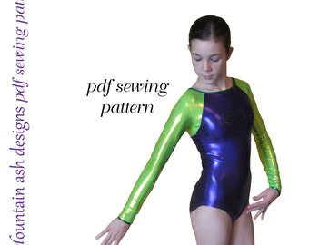 Leotards 6 pdf sewing pattern gymnastics leotards long sleeve leotards
