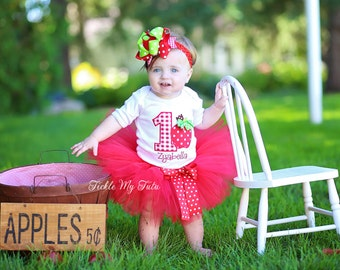 Apple Of My Eye Birthday Tutu Outfit-Apple Orchard Birthday Tutu Set-Apple Birthday Tutu Set *Bow NOT Included*