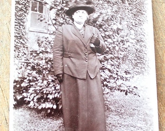 "Vintage Photo ""Dowager in Black"", Photography, Paper Ephemera, Snapshot, Old Photo, Collectibles 1383 C"