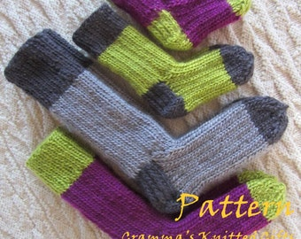 Kids Two Tone Sock Pattern