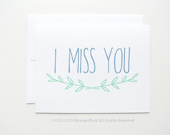 "Missing you Cards "" I miss you"" simple and sweet"