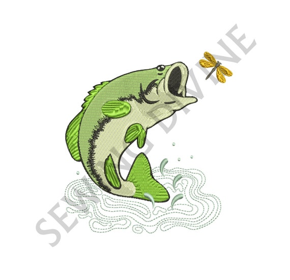 Fish Embroidery Design Large