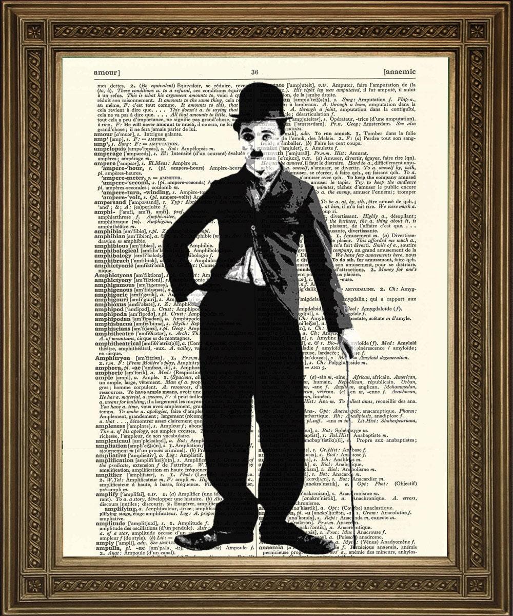 CHARLIE CHAPLIN Art Prints: 2 Portraits Vintage Black and