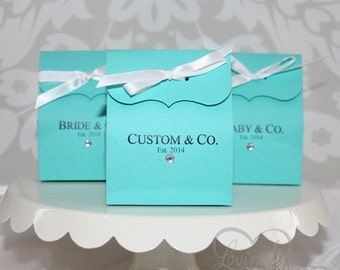 Favor Bags - Custom Printing - 1 Dozen - Assembly Required