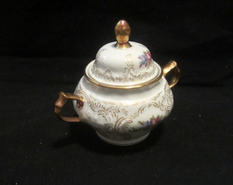 Sugar Bowl with Lid Rosenthal Diplomat Sanssouci Vintage China Plates Ivory and Gold