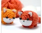 amigurumi fox pattern - instant download crochet pattern