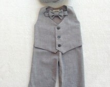 Ring Bearer Outfit, Baby Boy, First Birthday Outfit, Ring Bearer, Baby Boy Suit, Baby Boy Easter Outfit, Toddler Suit, Newsboy, Ring Bear