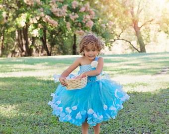 Flower Girl Dress - Wedding dress - Tulle Flower Girl Dress - Party Dress - Birthday Dress - Toddler Tutu Dress - Tulle Party Dress