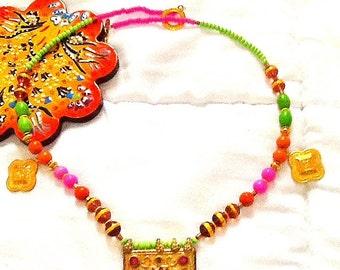 SALE---- MOROCCAN PRINCESS -Tribal Kuchi Necklace-Ethnic-Bohemian Jewelry -Gypsy necklace-Belly Dance Jewelry